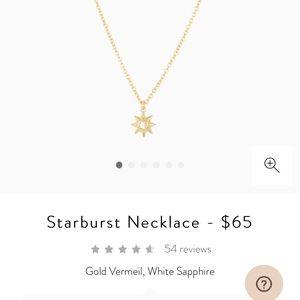 Mejuri starburst necklace